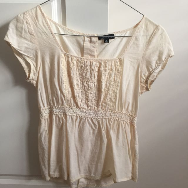 Peasant Top With Lace Detail