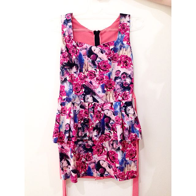 Peplum Flower Dress