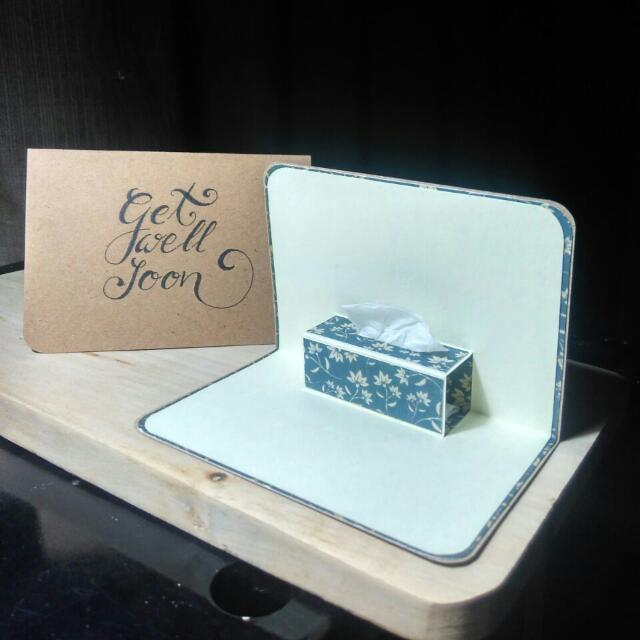 Get Well Soon Tissue Box • Pop-up Card