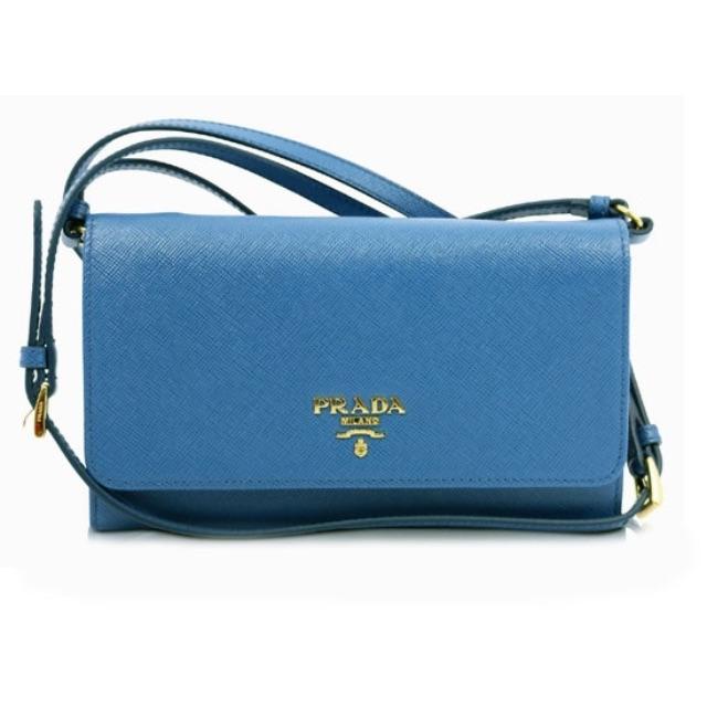 più recente 2e244 d2112 Prada Portafoglio Tracolla 1MT437 Cobalto (Blue), Luxury on ...