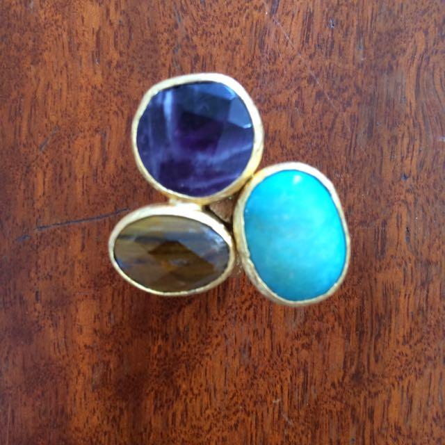 Semi Precious Stones Ring