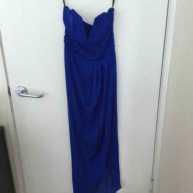 SHONA JOY BLUE BALL DRESS