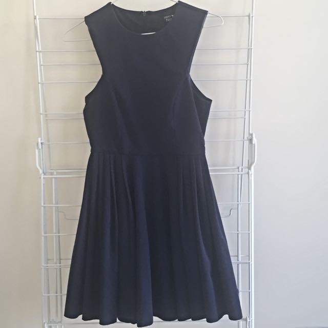 Size 6 Paper Heart Navy Dress