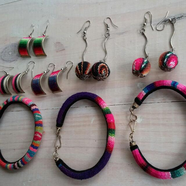 South American Accessories/ Ear Rings, Bracelets
