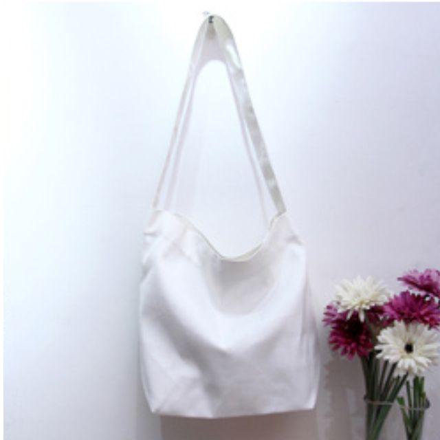 TWINKLE#無印風素色簡單帆布包(預購)