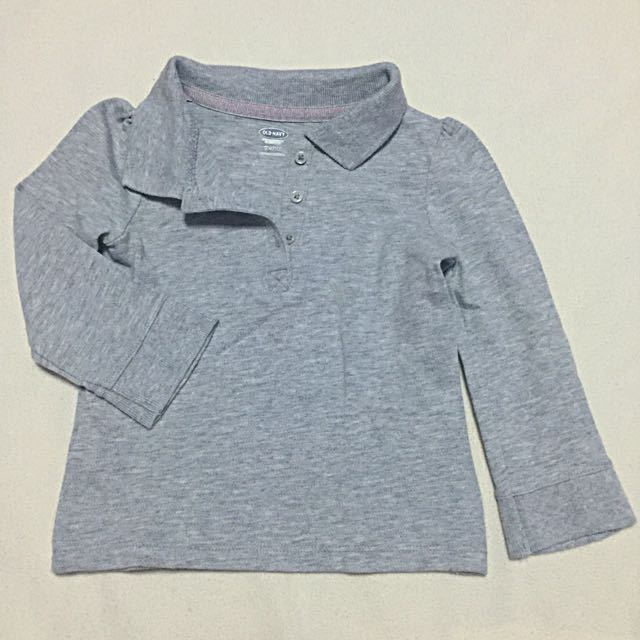 dee9377f0 (USED) Old Navy Long Sleeve Polo for Baby (18-24 Months)