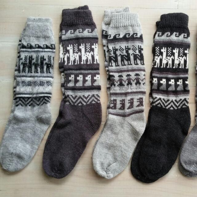 Warm Alpaca Socks From South America