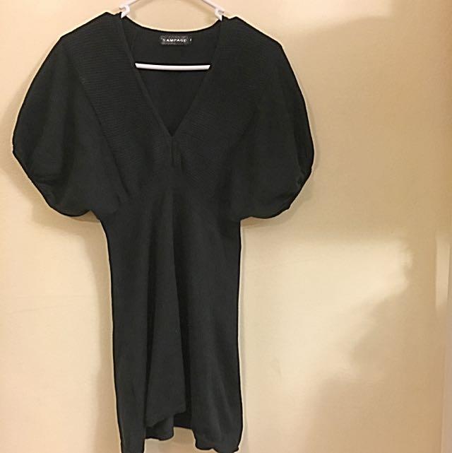Warm Little Black Dress For Winter
