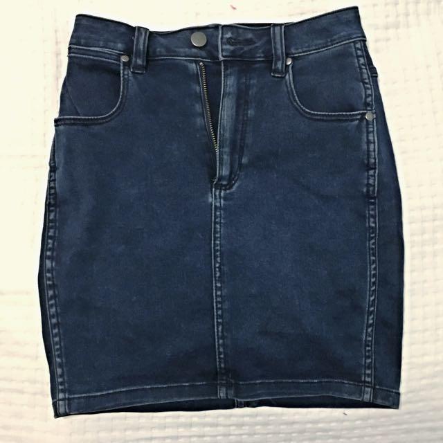 Wrangler Hi-Mini Denim Skirt