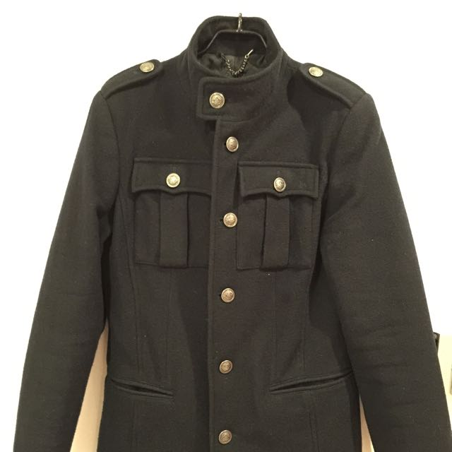 ecd6310f Zara Military Jacket, Men's Fashion on Carousell