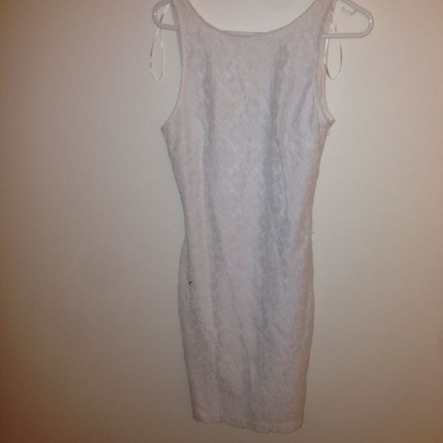 Zara Net White Dress