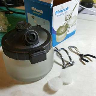 BN Airbrush Cleaning Pot c/w Airbrush Holder And Stabiliser