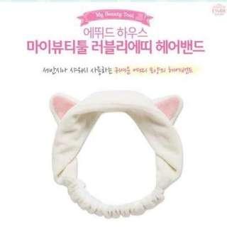 韓國🇰🇷Etude House 貓耳髮帶