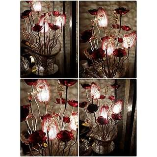 Lighted Flower Lamp