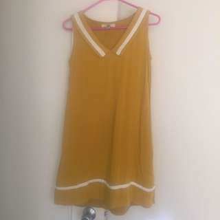 Modcloth Mustard Dress 8