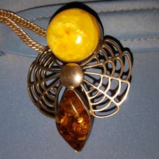 Amber Brooch/pendant
