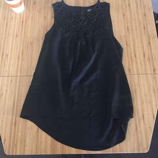 Dotti 8 Singlet Blouse Black