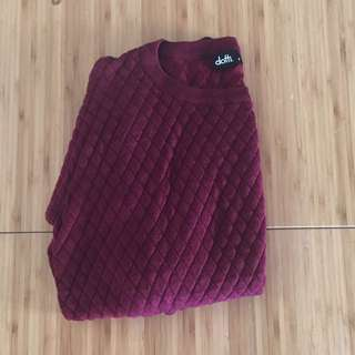 Dotti Burgundy Maroon Sweater Jumper S 8 10