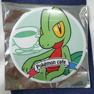 Pokemon Cafe SG Pokemon Can Badge (Treecko)
