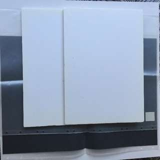 4 x Foam boards, 2 x Plastic Sleeves ARTS AND CRAFTS - can be sold together or separately