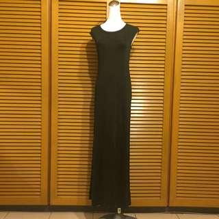 DKNY全絲顯瘦貼身長洋裝,S,九成新