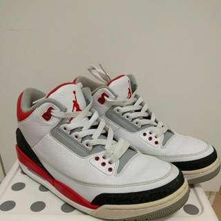 Air Jordan Retro 3 Fire Red 2013 US9.5