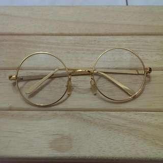復古金色眼鏡