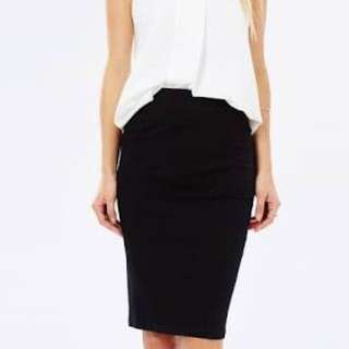 Curved Hem Tube Skirt