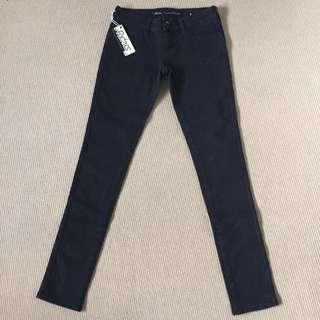 Lee Riders Low Super Skinny Black Jeans - Size 8