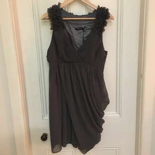 Unique Grey Cocktail Dress
