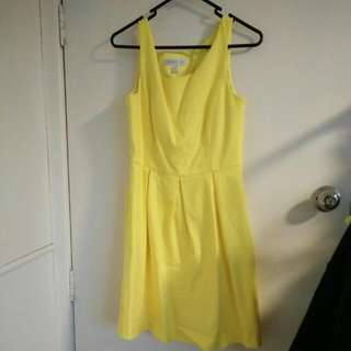Sz 10 Canary Skater Dress