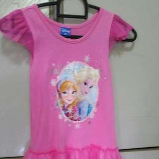 Preloved FROZEN Dress pink