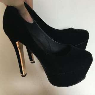 絨布高跟鞋