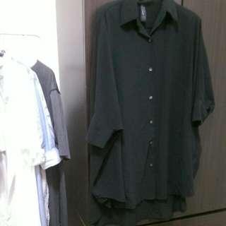 超有型潮流黑薄紗罩衫/上衣