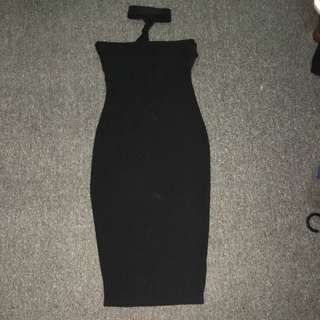 Boohoo Choker Midi Dress