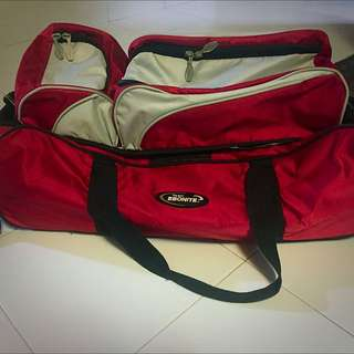 Ebonite 3 Ball Tote Bowling Bag With Rollers