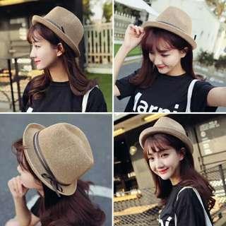 韓國代購帽子女韓版英倫小禮帽 遮陽蝴蝶結