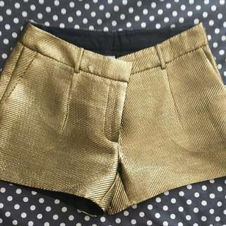 Witchery Gold Shorts Size 12