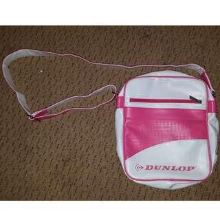 Dunlop Unisex Shoulder Bag White and Pink