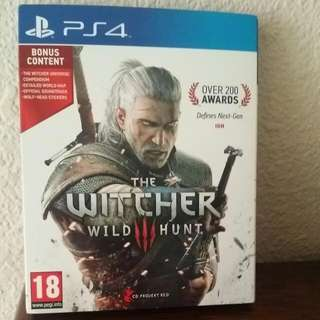 (Well Reserved) Sony Playstation 4  (PS4) Game: The Witcher 3 Wild Hunt