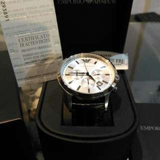 全新原廠正品ARMANI三眼皮錶帶 AR2432