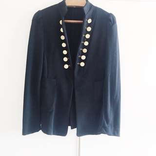 e26194d8 BN Black Double Breast Military Blazer With Gold Buttons