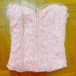 Light Pink Corset-Like Top