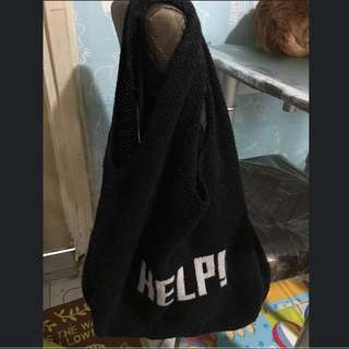 韓國針織tote bag
