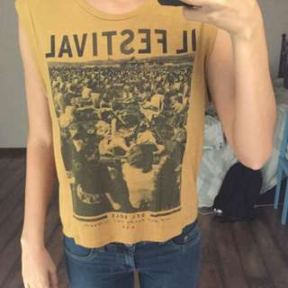 Mustard Muscle Tee All About Eve