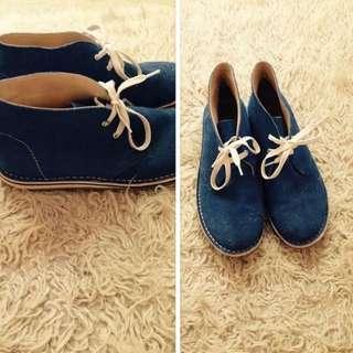 Blue Desert Boots Sz 39
