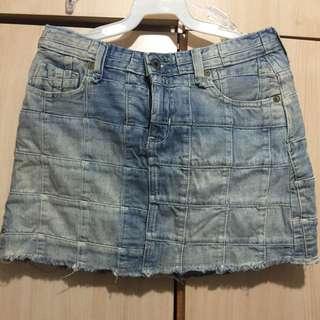 2手復古Ralph Lauren低腰mini牛仔裙