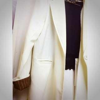 🇰🇷韓版米白色西裝外套