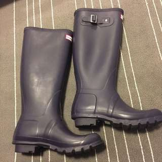 [PENDING SALE] Hunter Original Tall in Aubergine Size EU38/UK5