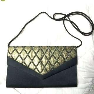 Vintage Gold & Black Bag
